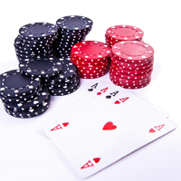 blackjack cards and chips